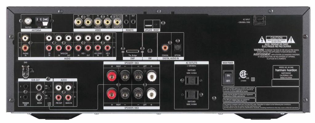 Ampli Tuner Harman Kardon HK3490 ET Enceinte Colonne JBL ES80