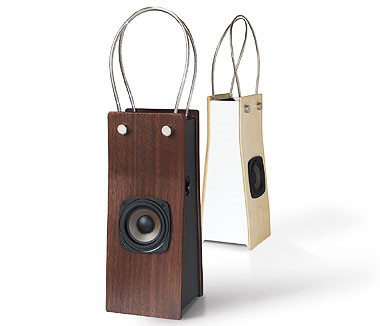 iPod Speaker that looks like a fancy shopping bag | Audioreview